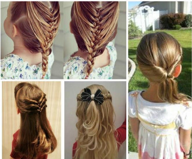 penteados para cabelos cacheados infantil para formatura