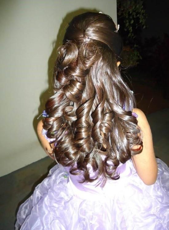 penteados para damas de honra juvenis