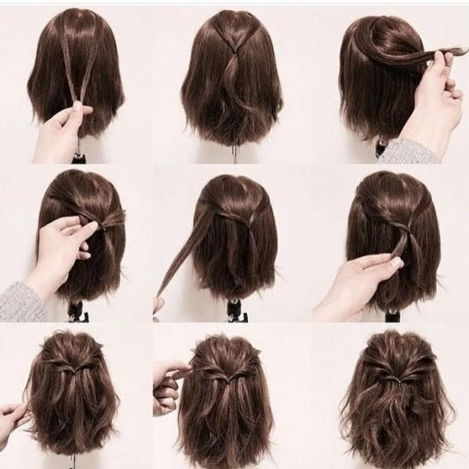 pentado cabelo curto dia a dia