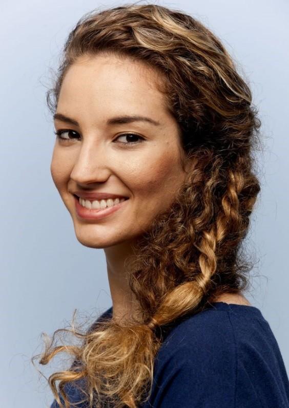 penteados cabelos cacheados trança holandesa