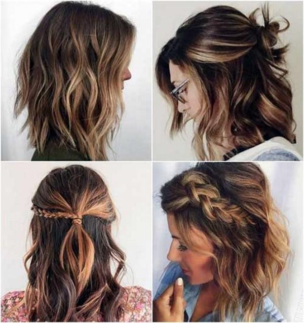 penteados para cabelos medios para casamento